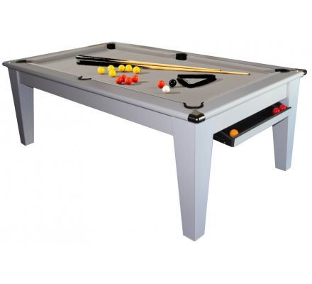 Billard Table Transformable 8 pool York 7ft Blanc