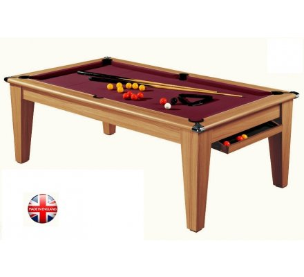 Billard Pool convertible en Table Le York 7ft Châtaignier Clair