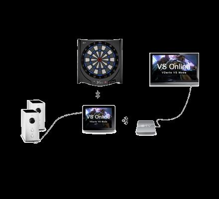Cible de fléchettes électronique connectée Vdarts H2