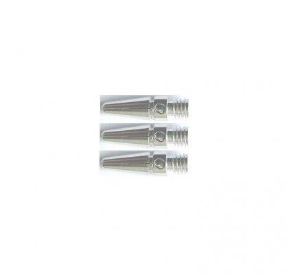 Lot de 3 tiges Aluminium-Argent-Mini A605