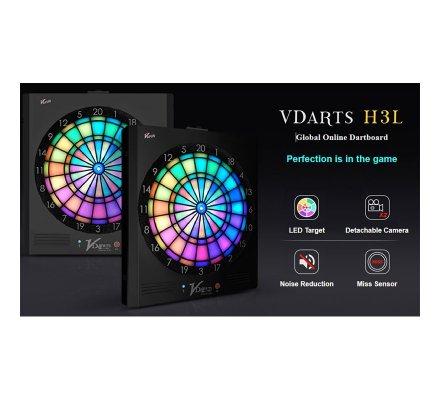 Cible de fléchettes électronique connectée Vdarts H3L
