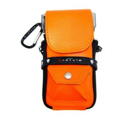 """L-STYLE étui fléchettes """"Krystal Orange"""" L323"""