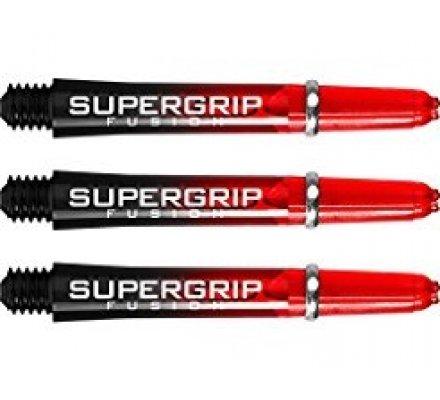Lot de 3 tiges de fléchettes Supergrip Fusion Black/Rouge Courte SP913