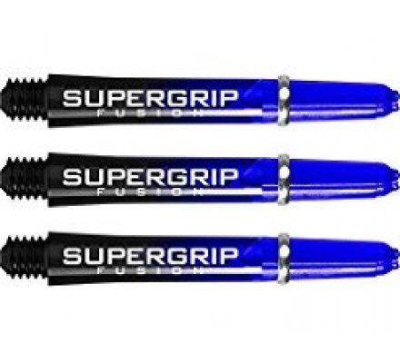 Lot de 3 tiges de fléchettes Supergrip Fusion Black/Bleu Intermediare SP906