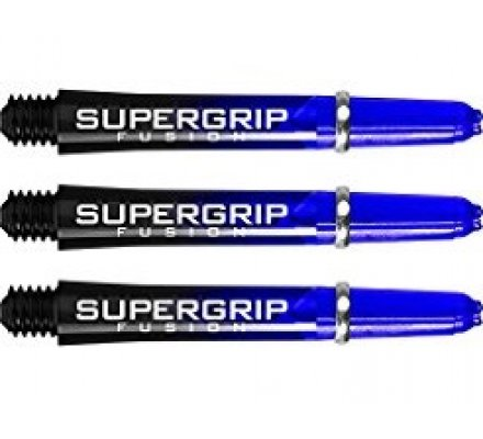 Lot de 3 tiges de fléchettes Supergrip Fusion Black/Bleu Courte SP914