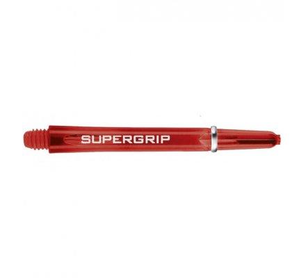 Lot de 3 tiges de fléchettes Supergrip Rouge Courte SP0440