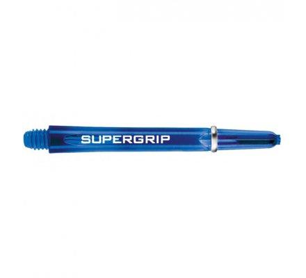 Lot de 3 tiges de fléchettes Supergrip Bleu Courte SP0443