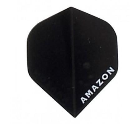 Lot de 3 ailettes de flechettes Amazon Slim Transparente Noire A627