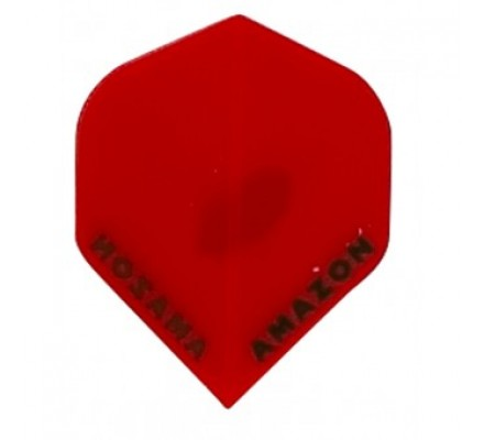 Ailette de flechettes Amazon Slim Transparente Rouge TR93
