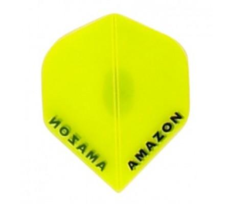 Ailette de flechettes Amazon Slim Transparente Jaune A633