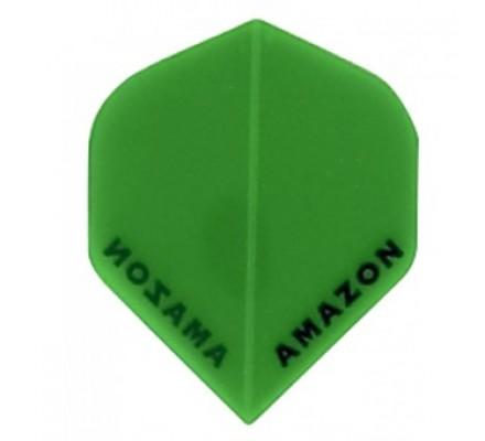 Ailette de flechettes Amazon Slim Transparente Verte A631