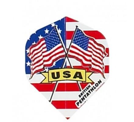 Ailette de flechettes standard DRAPEAUX PAYS USA BP00
