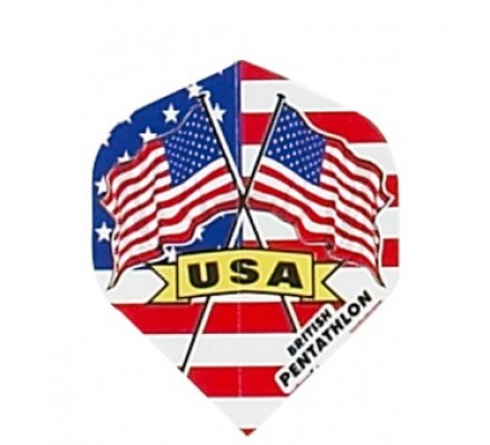 Ailette de flechettes étroite DRAPEAUX PAYS USA BP70
