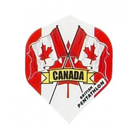 Ailette de flechettes standard DRAPEAUX PAYS CANADA BP03
