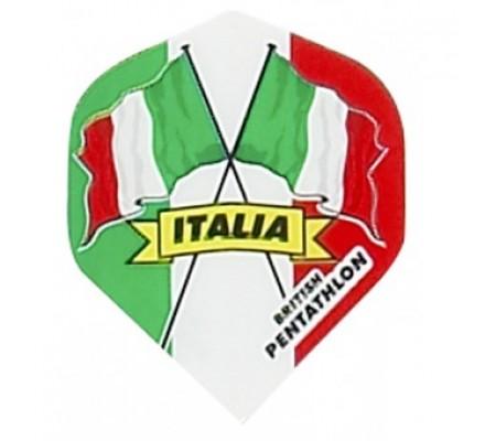 Ailette de flechettes standard DRAPEAUX PAYS ITALIE BP11