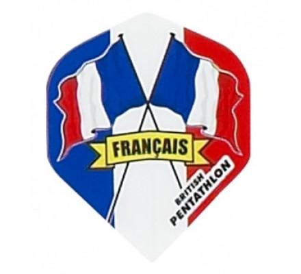 Ailette de flechettes standard DRAPEAUX PAYS FRANCE BP18