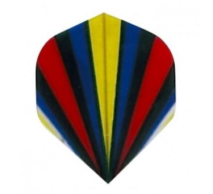 Ailette de flechettes standard  FLASH ROUGEBLEU P132