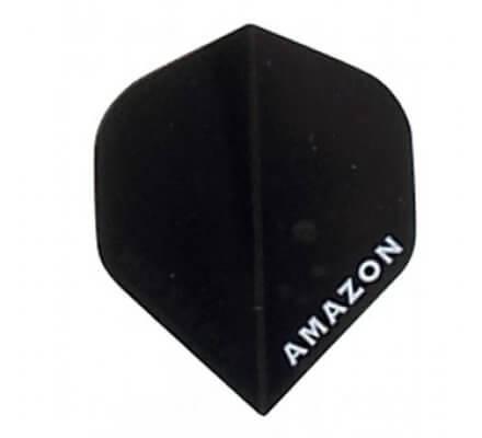 Lot de 3 ailettes pour jeux de fléchettes Amazon Transparente Noire A098